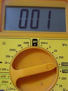 Medida 001 voltios