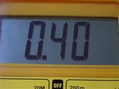 Medida 0,40 voltios