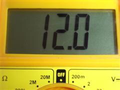 Medida 12,0 voltios