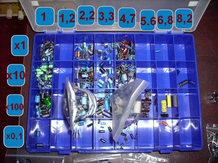 Caja Condensadores Electroliticos