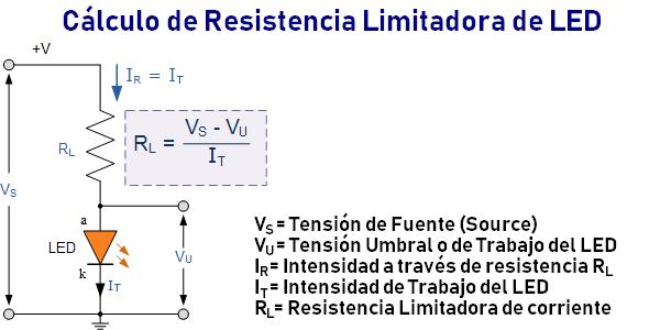 Cálculo de Resistencia Limitadora de LED